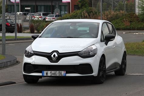 renault white 2013 renault clio iv rs 210 spotted undisguised in white