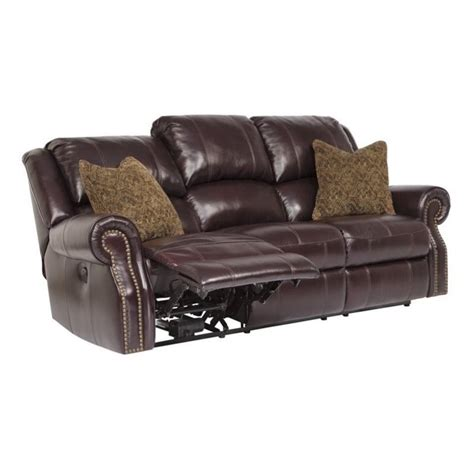 overly power reclining sofa ashley walworth leather power reclining sofa in