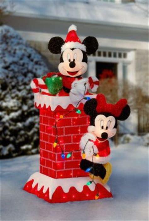 huge  tall prelit mickey minnie mouse christmas