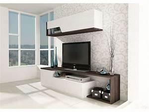 Ensemble Meuble Tv Conforama : meuble tv bas 1 porte et 1 tiroir meuble haut 200 cm ~ Dailycaller-alerts.com Idées de Décoration