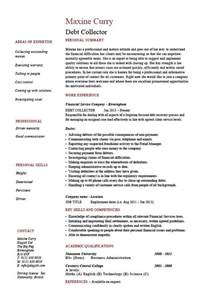 resume format template for job description debt collector resume loans job description exle sle template money credit work