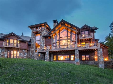 log  stone colorado ski chalet  great room