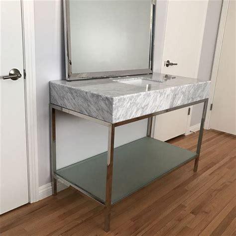 mid century modern sink vanity mid century modern marble bathroom vanity with chrome