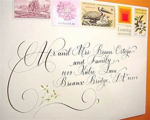 wedding invitation envelope addressing by damngoodcalligraphy With hand addressed wedding invitations cost