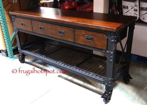 Costco Kitchen Furniture by Whalen Industrial Metal Wood Workbench Costco