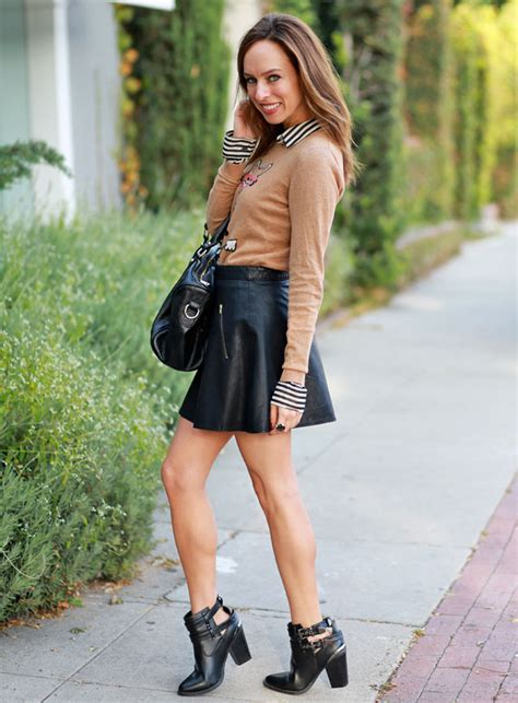How to Wear Leather Skirt Outfit Tips u2013 Designers Outfits Collection