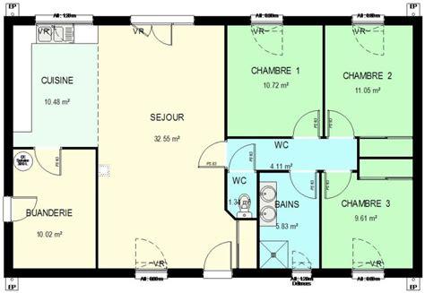 construction 86 fr gt plan maison ossature bois plain pied