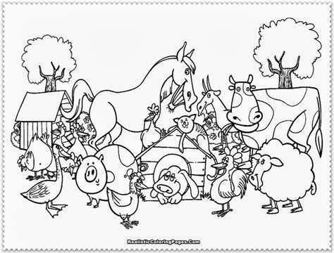 coloring pages farm animal coloring pages colorine farm
