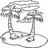 Palm Coloring Trees Tree sketch template