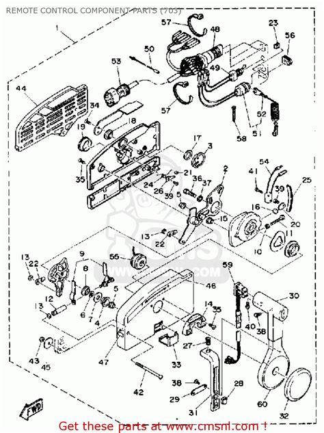 yamaha l150 l200etd 1990 remote component parts 703 schematic partsfiche