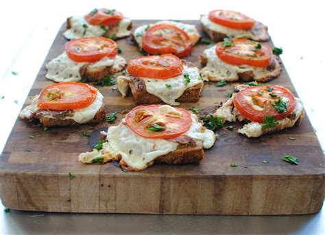 images of canapes cheesy canapés egg boats and a rustic slab pizza bev cooks