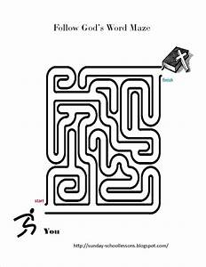 Follow God's Word Maze - Sunday School Activities ~ Sunday