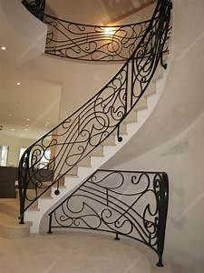 Rampe D Escalier Moderne : rampes d 39 escalier en fer forg art nouveau mod le lyre ~ Melissatoandfro.com Idées de Décoration