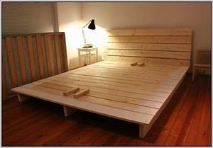 Massivholz Bett Selber Bauen Anleitung : bett selber bauen einfach kreativ einrichten diy ~ Watch28wear.com Haus und Dekorationen