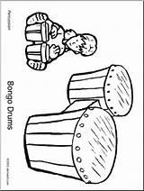Bongo Coloring Drums Abcteach Drum sketch template