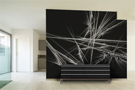 couleur de chambre moderne papier peint design abstrait izoa