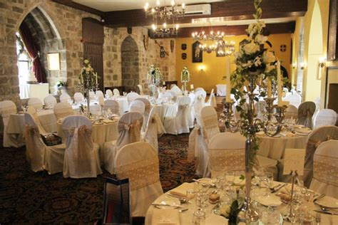 chair covers and wedding decorations at langley castlestyled seated