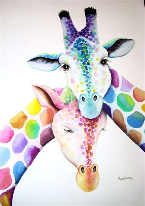 Colorful Animal Wallpaper - animals background colorful colors giraffe phone