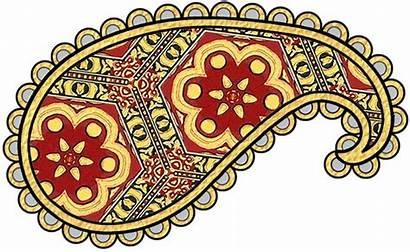 Paisley Clip Gold Pattern Patterns Prints Navy