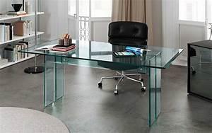 Schreibtisch Aus Glas : der schreibtisch aus transparentem glas f r das home office llt fiam italia ~ Markanthonyermac.com Haus und Dekorationen