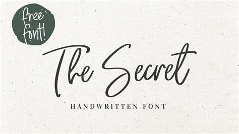 secret  font pinspiry