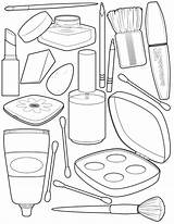 Coloring Makeup Pages sketch template