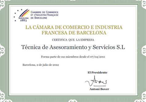 adresse chambre de commerce chambre de commerce et d 39 industrie française à barcelone