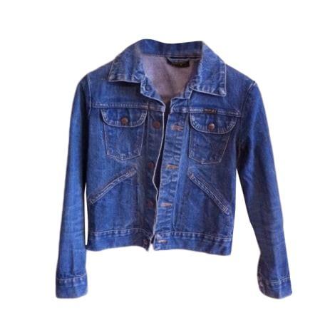 veste en jean troué veste en jean wrangler 36 s t1 bleu 968342