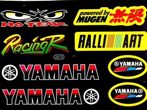 yamaha  fear mugen rally art motorcycle sticker sheet