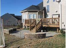 Deck and stone patiolike it off the deck but needs to