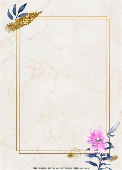 printable golden rectangle floral birthday