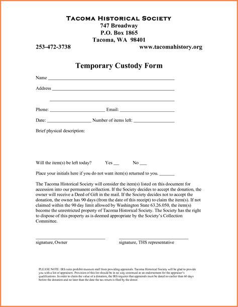 40 advanced temporary child custody agreement form pe
