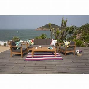 Canape De Jardin Bois : finlandek salon de jardin 5 places en eucalyptus ~ Premium-room.com Idées de Décoration