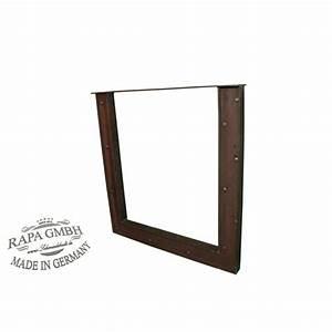 Chemin De Table Design : chemin de table design industriel cadre noir acier brut 70 x 73 pont ~ Teatrodelosmanantiales.com Idées de Décoration