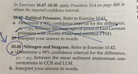 In Exercises 10.47 10.50, Apply Procedure 10.4 On
