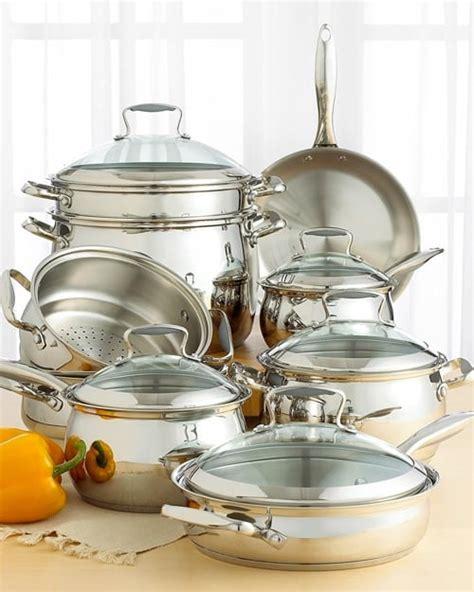 tools   trade belgique stainless steel  piece cookware set