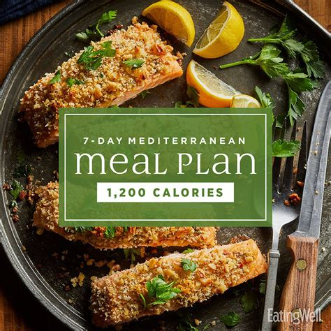 7 Day Mediterranean Meal Plan: 1 200 Calories EatingWell