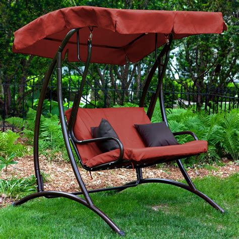 canapé swing coral coast bay 2 person canopy swing terra cotta