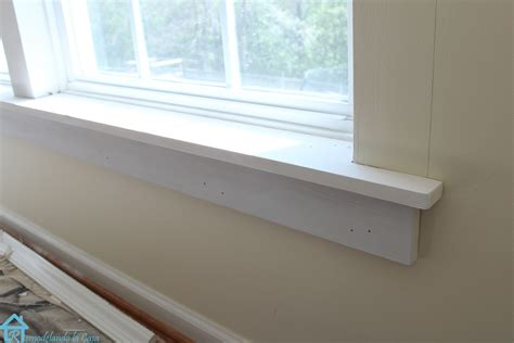 New Window Sill by How To Install Trim On A Window Remodelando La Casa