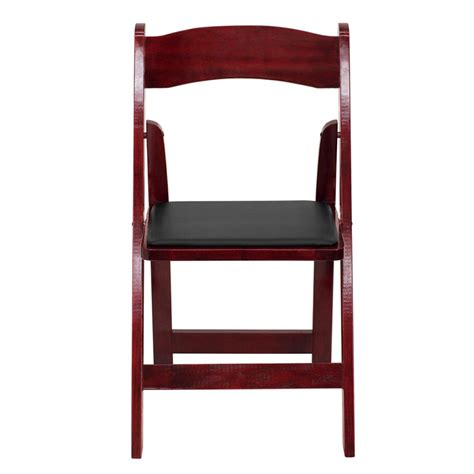 hercules series mahogany wood folding chair with vinyl