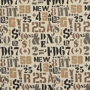 taupe and black letters numbers and symbols woven With cloth letters and numbers