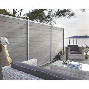 Cloture Jardin Composite Leroy Merlin by Lame En Composite 224 Embo 238 Ter Kyoto Gris Fonc 233 L 176 X H