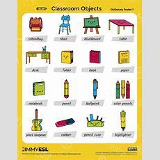School & Classroom Objects (esl Worksheets & Flashcards) Jimmyesl