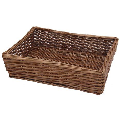 wooden garden trays buy padstow wicker empty baskets from the