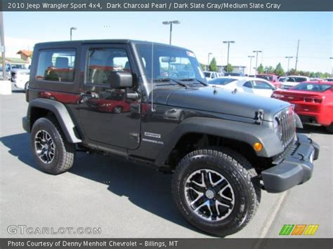 jeep dark gray dark charcoal pearl 2010 jeep wrangler sport 4x4 dark