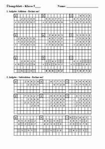 Flächeninhalte Berechnen Klasse 5 : einstiegstest am gymnasium matheaufgaben zu den grundrechenarten ~ Themetempest.com Abrechnung