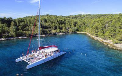 Excursion Catamaran Brac by Summer Blues Party Boat Hvar Pakleni Islands Brac