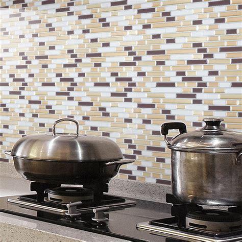 stick on backsplash tiles for kitchen peel and stick wall tile kitchen and bathroom backsplashes