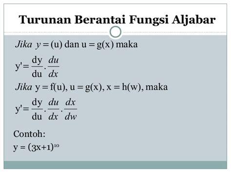 kalkulus turunan dan integral