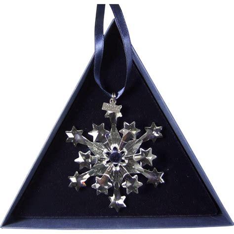 2004 swarovski crystal snowflake annual edition christmas